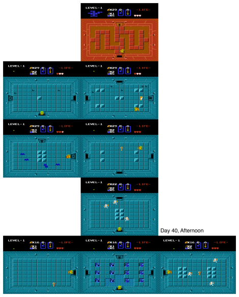 Map of the day's travels in my first day in the blue temple.
